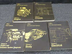 1973 Lincoln Continental Mark IV Luxury Coupe Shop Service Repair Manual Set