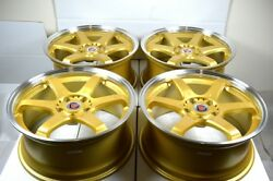 18 gold Wheels 350Z CRV TL 300ZX Prelude Civic Optima Sonata Avalon 5x114.3 Rims