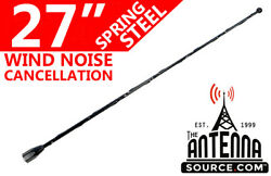 27 Black Spring Stainless Am/fm Antenna Fits 1985-1989 Plymouth Reliant