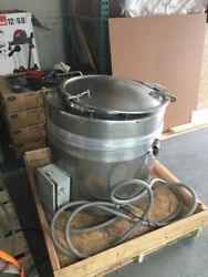 12612-002 Used Approximately 40 Gallon Stainless Steel Jacketed Kettle.