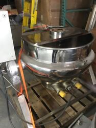12612-003 Used Approximately 50 Gallon Polished Stainless Steel Jacketed Kettle