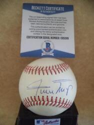 Wiilie Mays Giants Vintage Signed Autographed N.l. Baseball Beckett C95269