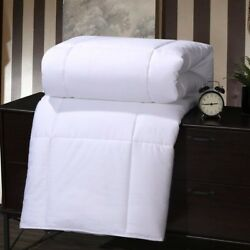 100 Pure Mulberry Silk-filled Blanket Luxury 400 Tc 100 Cotton Sateen White