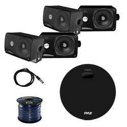 Pyle Marine Receiver W/pyle Plmr24b Box Speakers Enrock Antenna And Speaker Wire