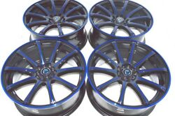 18 blue Wheels Rims Legend Eclipse Odyssey Avenger Fusion CRV RAV4 5x100 5x114.3