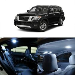 19 X White Led Interior Light Package For 2005 - 2017 Nissan Armada + Pry Tool