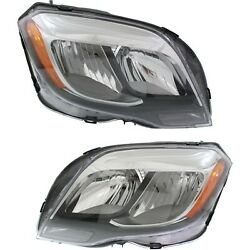 Headlight For 2013-2015 Mercedes-benz Glk250 Pair Driver And Passenger Side