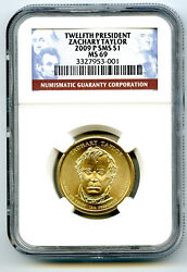 2009 P Zachary Taylor Presidential Satin Dollar Ngc Sms Ms69 Us Mint - Top Pop