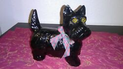 Vintage Scottie Black Scottish Terrier Ceramic Dog  6