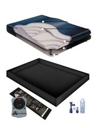 90 Tethered Waveless Waterbed Mattress Liner Heater Fill Drain Conditioner Kit