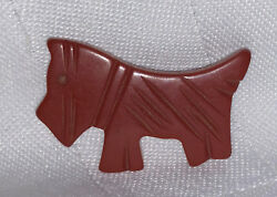 Bakelite Red Scottish Terrier Brooch Pin ~ Vintage Scottie Pin