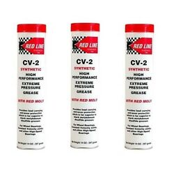 Pack Of 3 Red Line 80402 14oz Cv-2 Extreme Pressure Synthetic Grease Cartridge