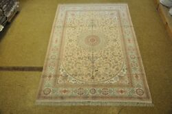 Great Investment Intricate Handmade Area Rug 6 X 9 Silk