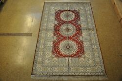 Classic Deep Red Hand-knotted 5' X 8' Silk New Rug