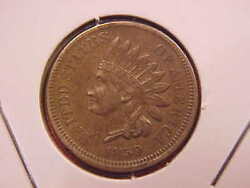 1859 Indian Head Cent - Au - See Pics - X2004