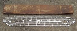 Nos 1957 Chevy 210 Silver Grille Insert Gm 3738775