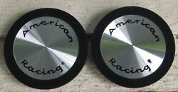 Nos 1970and039s 1980and039s Vintage American Racing Center Hub Caps 898032 2 T1a