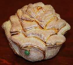Judith Leiber Crystal Exquisite Rare White Rose Bag Minaudiere Clutch