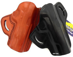 Tagua Right Hand Brown Black Leather Open Top Belt Holster For 5 1911 - Choose