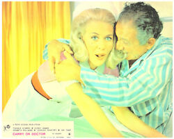 Carry On Doctor Original Lobby Card Sidney James Cuddles With Nurse Dilys Laye