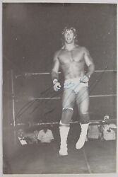 Kerry Von Erich (d.1993) WWF Wrestling Autographed Signed 4x6 Action Photo JSA
