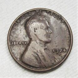 1924-d Lincoln Wheat Cent Vg Coin Ad216