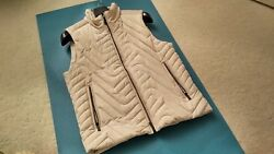 Porsche Design M Icon Quilted VEST Italy Silver Grey Sz. S NEW RARE MSRP: $1400