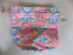 Vera Bradley ditty bag plastic lined  BEACH BOUND NWOT Paisley in Paradise