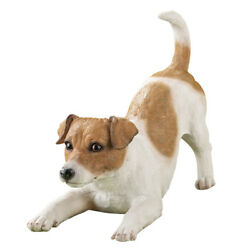 Jack Russell Terrier Playing Dog Breed Garden Statue by Collections Etc