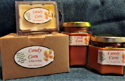 New Hand Poured Halloween Scent Soy Candles Tarts And Votives - Candy Corn
