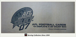 2007 Select Afl Supreme Card Factory Case 12 Boxes+case Card-hall Of Fame 3