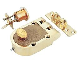 Mul-t-lock Single Cylinder Jimmy Proof With Rim Cylinder-bright Brass