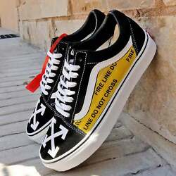 Vans Old Skool x OFF White Custom Handmade Shoes By Patch Collection