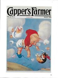 * BOSTON TERRIER DOG CAPPER'S FARMER MAGAZINE COVER From COLLECTIBLES BOOK *