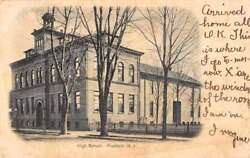 Freehold New Jersey High School Street View Antique Postcard K91228