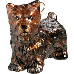 Cairn Terrier Standing Dog Blown Glass Polish Christmas Ornament Decoration