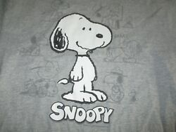 Vintage AA Style Label Peanuts Snoopy Comic Strips LG T Shirt
