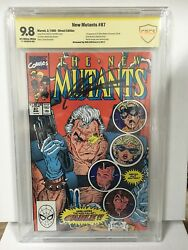 New Mutants 87 Cbcs 9.8 Signed Rob Liefeld 1st Cable Deadpool 2 Movie Not Cgc