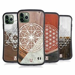 Head Case Geometric Wood Prints Hybrid Case And Wallpaper For Apple Iphones Phones