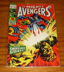 The Avengers # 65 Gene Colan Marvel Comics 1960s Hawkeye The Black Panther