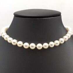 14k Gold Cultured Salt Water Pearl Necklace 20 Inch Gia Gemologist Appraised