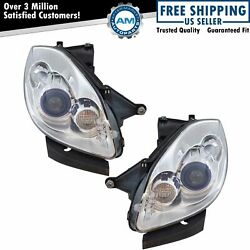 Hid Headlight Headlamp And Ballast W/o Auto Adaptive Lh And Rh Pair For Enclave New