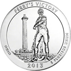 2013 Atb Perryand039s Victory Silver 5 Oz 25c - Bu