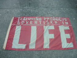 Double Sided Banner/flag/sign Featuring Products Advertised In Lifemagazine
