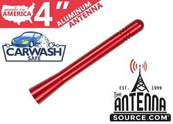 Short 4 Aluminum Red Antenna Mast-fits 1985-1990 Plymouth Reliant