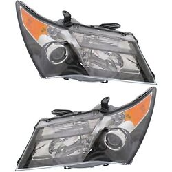 Headlight Set For 2010 2011 2012 2013 Acura Mdx Left And Right 2pc