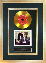 143 Gold Disc Bob Dylan Highway 61 Album Cd Signed Autograph Mounted Repro A4