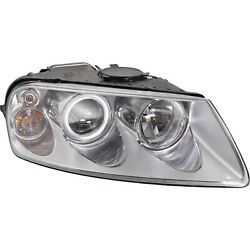 Headlight For 2004-2007 Volkswagen Touareg Right Clear Lens With Bulb