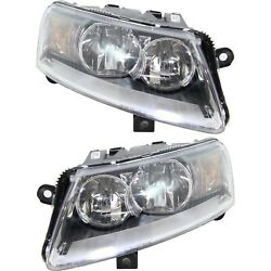 Halogen Headlight Left And Right For 2006-2008 Audi A6 2005-2008 Audi A6 Quattro