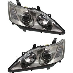 Headlight Set For 2007 2008 2009 Lexus Es350 Left And Right Hid 2pc